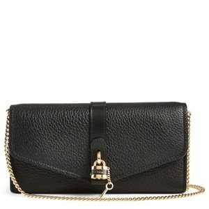 CHLOÉ Aby Leather Chain Clutch Bag